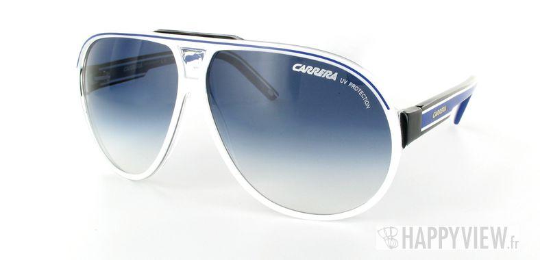 Lunettes de soleil Carrera Carrera Grand Prix bleu/blanc - vue de 3/4