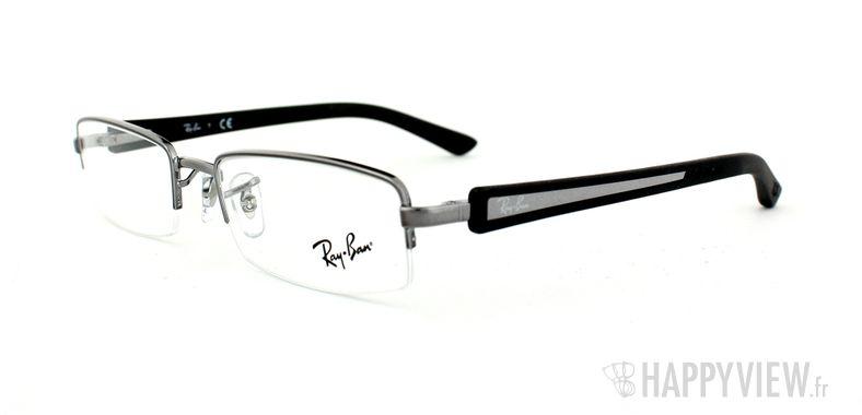 Lunettes de vue Ray-Ban Ray-Ban RX6232 argenté/noir - vue de 3/4