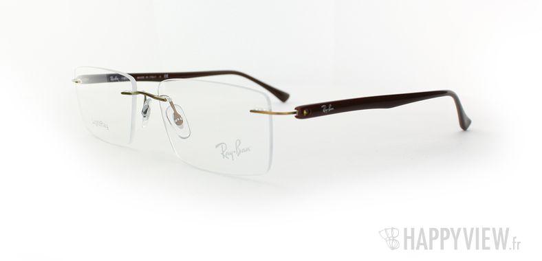 Lunettes de vue Ray-Ban Ray-Ban RX8694 Titane marron - vue de 3/4