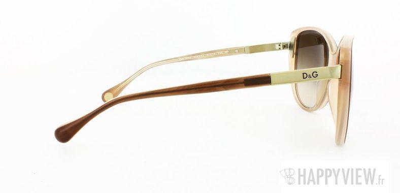 Lunettes de soleil Dolce & Gabbana Dolce&Gabbana 3079 marron/blanc - vue de côté