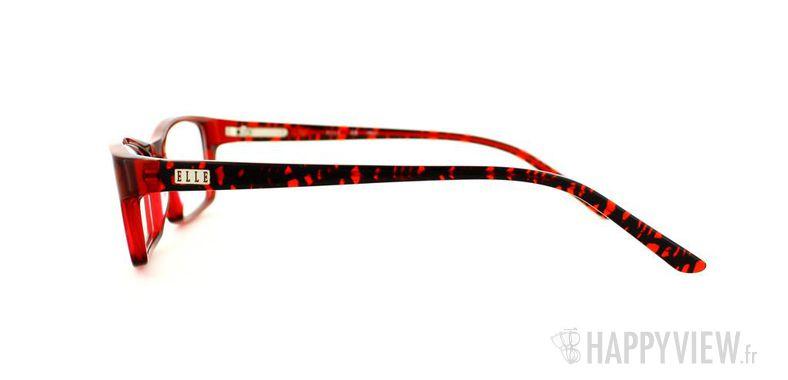Lunettes de vue Elle Elle 13328 rouge - vue de côté