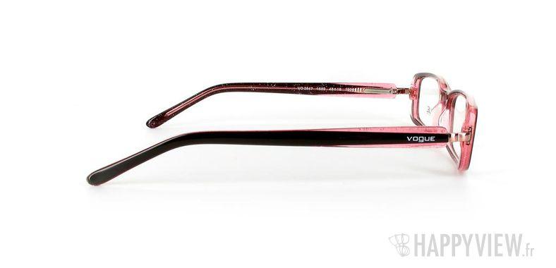 Lunettes de vue Vogue Vogue 2647 noir/rose - vue de côté