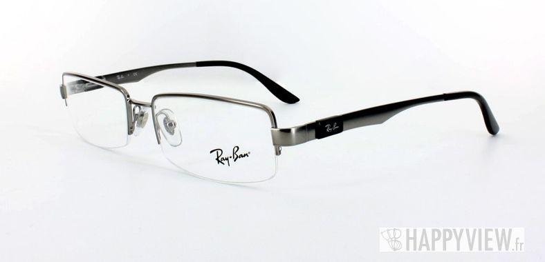 Lunettes de vue Ray-Ban Ray-Ban RX6156 argenté/noir - vue de 3/4
