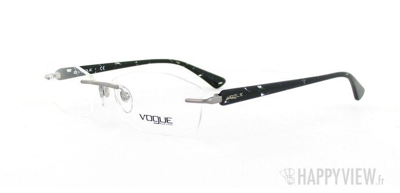 Lunettes de vue Vogue Vogue 3797 noir/gris - vue de 3/4
