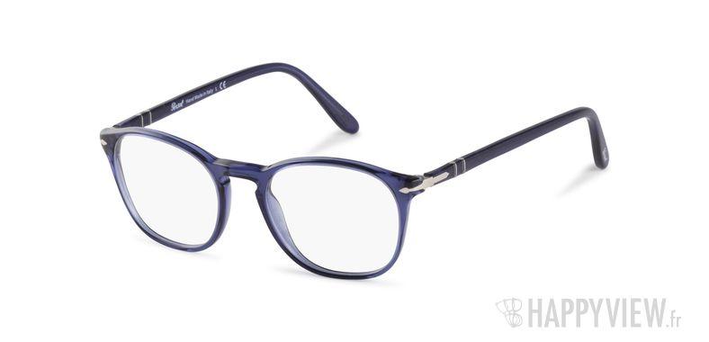 Lunettes de vue Persol PO 3007V bleu - vue de 3/4