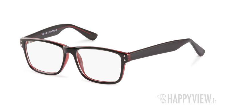 Lunettes de vue Happyview Chelles noir/rouge - vue de 3/4