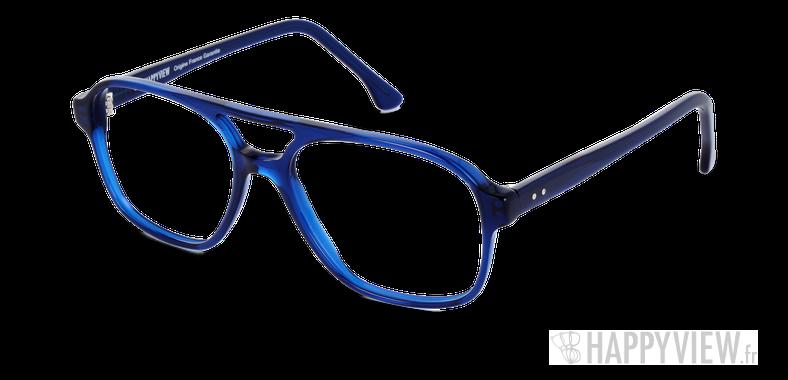 Lunettes de vue Happyview LEON bleu Fabriquées en France - vue de 3/4