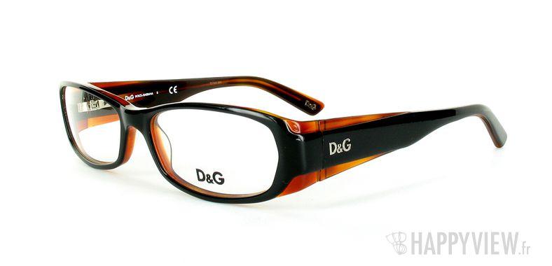Lunettes de vue Dolce & Gabbana D&G 1172 orange/noir - vue de 3/4