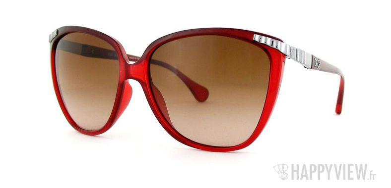 Lunettes de soleil Dolce & Gabbana Dolce&Gabbana 8096 rouge/argenté - vue de 3/4