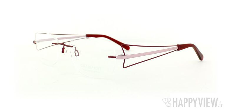 Lunettes de vue Charmant Charmant 10956 Titane rouge - vue de 3/4