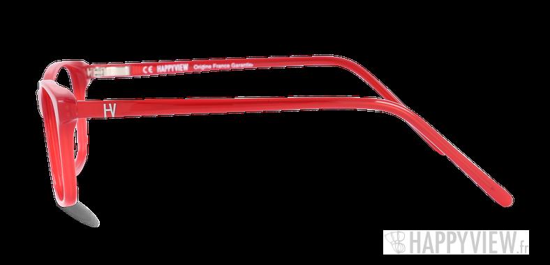 Lunettes de vue Happyview CAMILLE rouge Fabriquées en France - Vue de côté
