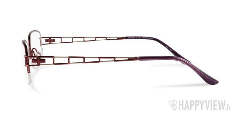 Lunettes de vue Charmant 10818 Titane rouge/marron - vue de côté