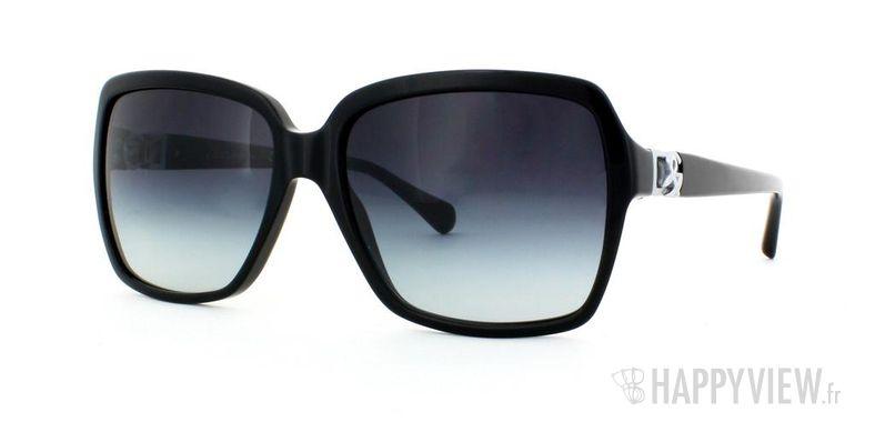 Lunettes de soleil Dolce & Gabbana Dolce & Gabbana 4164P noir - vue de 3/4
