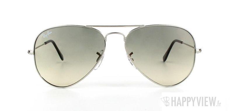 Lunettes de soleil Ray-Ban Ray-Ban Aviator argenté/gris - vue de face