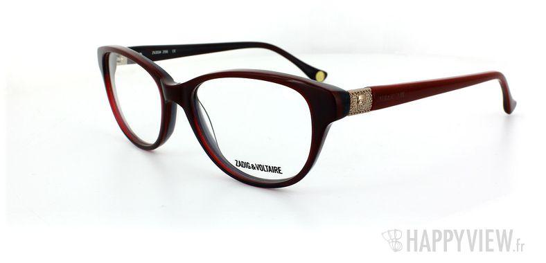 Lunettes de vue Zadig&Voltaire Zadig&Voltaire 2034 rouge - vue de 3/4