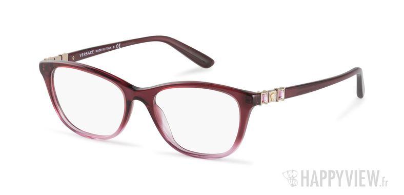 Lunettes de vue Versace VE 3213B rose - vue de 3/4