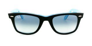 Lunettes de soleil Ray-Ban RB 2140 Wayfarer noir/bleu