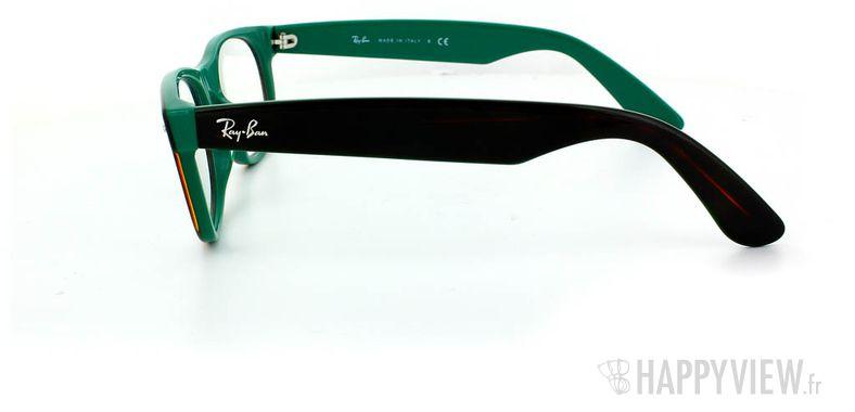 Lunettes de vue Ray-Ban Ray-Ban RX5184 New Wayfarer vert/écaille - vue de côté