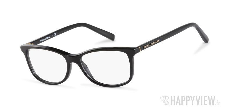 Lunettes de vue Dolce & Gabbana DG 3222 noir - vue de 3/4