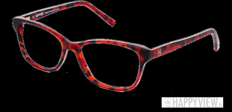 Lunettes de vue Happyview VICTOIRE rouge Fabriquées en France - vue de 3/4