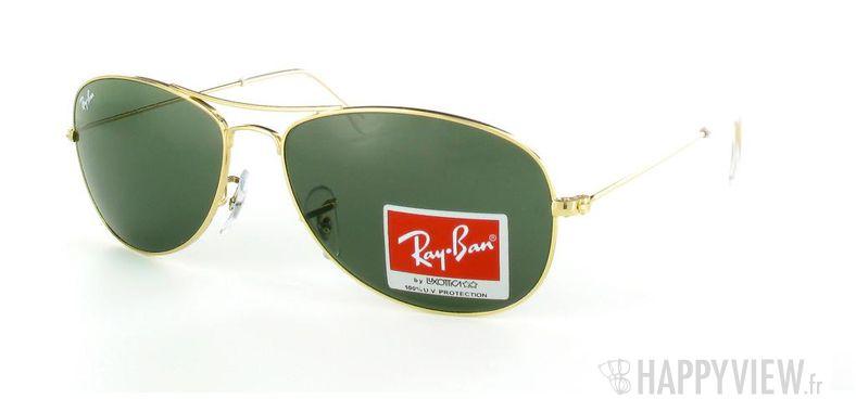 Lunettes de soleil Ray-Ban Ray-Ban Cockpit doré - vue de 3/4