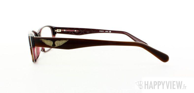 Lunettes de vue Zadig&Voltaire Zadig&Voltaire 2011 marron/blanc - vue de côté