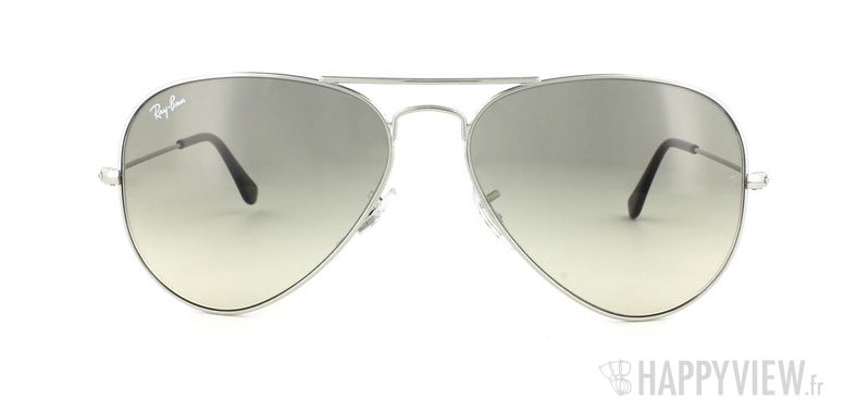 Lunettes de soleil Ray-Ban Ray-Ban Aviator Large argenté/gris - vue de face