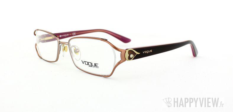 Lunettes de vue Vogue Vogue 3798B rose/marron - vue de 3/4