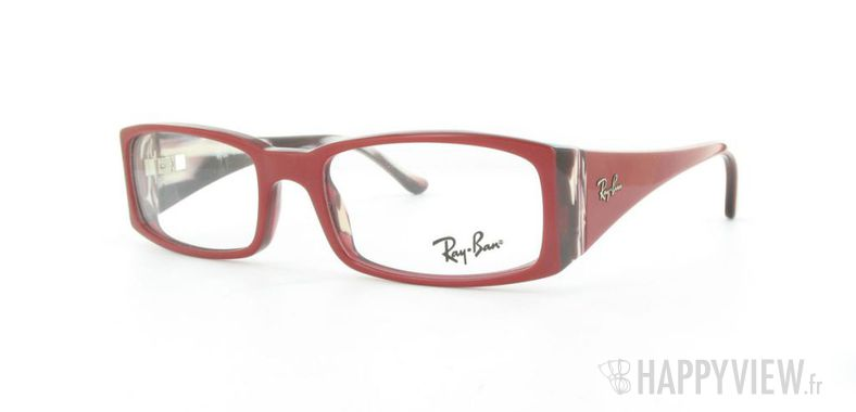 Lunettes de vue Ray-Ban Ray-Ban RX5170 rouge - vue de 3/4