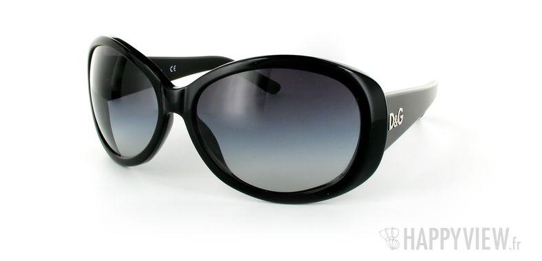Lunettes de soleil Dolce & Gabbana D&G 3030 noir - vue de 3/4