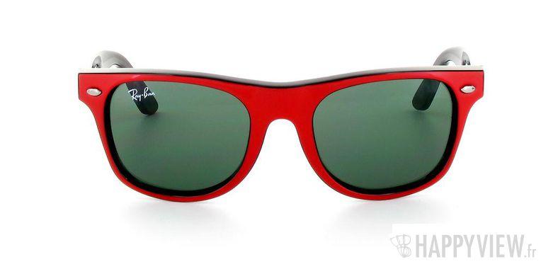 Lunettes de soleil Ray-Ban Ray-Ban Junior Wayfarer rouge/noir - vue de face