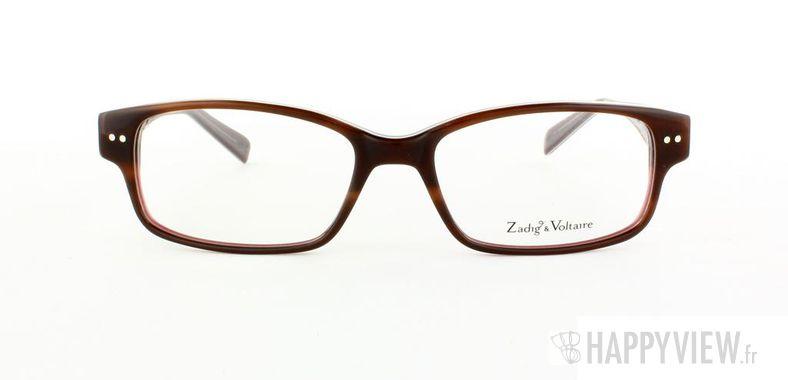 Lunettes de vue Zadig&Voltaire Zadig&Voltaire 2011 marron/blanc - vue de face