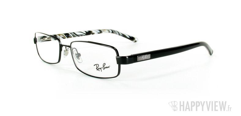 Lunettes de vue Ray-Ban Ray-Ban RX6092 noir/écaille - vue de 3/4