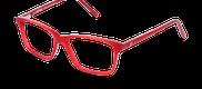 Lunettes de vue Happyview CAMILLE rouge - vue de 3/4 miniature