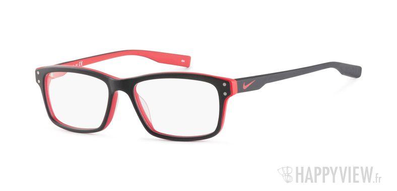 Lunettes de vue Nike 7231 noir/rouge - vue de 3/4