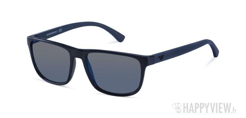 Lunettes de soleil Emporio Armani EA 4087 bleu - vue de 3/4