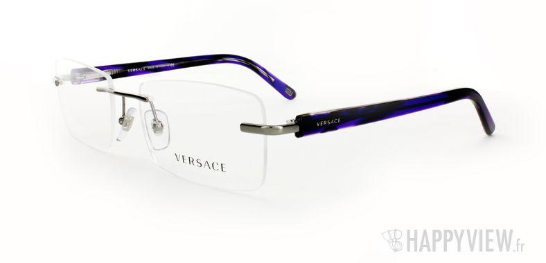 Lunettes de vue Versace VERSACE 1194 bleu/argenté - vue de 3/4