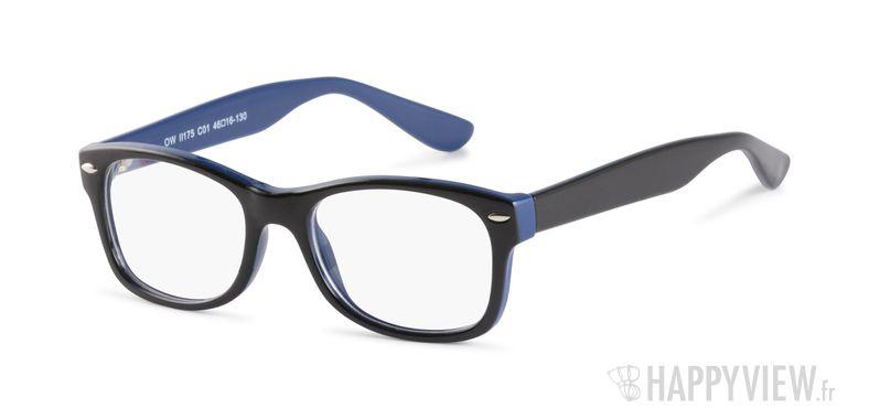 Lunettes de vue Happyview Bayonne noir/bleu - vue de 3/4