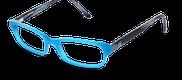 Lunettes de vue Happyview SASHA bleu - vue de 3/4 miniature