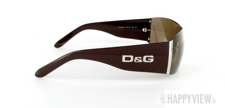 Lunettes de soleil Dolce & Gabbana D&G 8026 marron - vue de côté