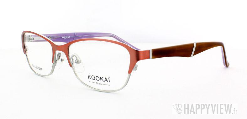 Lunettes de vue Kookaï Kookai 205 Titane rose/marron - vue de 3/4