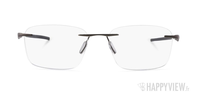 Lunettes de vue Oakley Wingfold Titane gris - vue de face