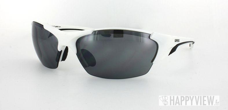 Lunettes de soleil Uvex Uvex Blaze blanc/noir - vue de 3/4