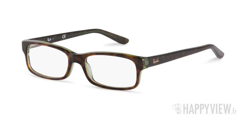 Lunettes de vue Ray-Ban RX 5187 vert/écaille - vue de 3/4