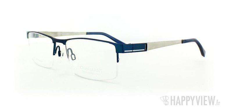 Lunettes de vue Charmant Charmant 10765 Titane bleu/gris - vue de 3/4