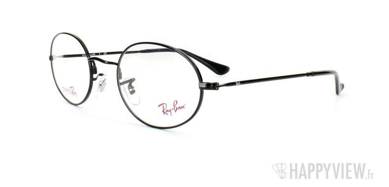 Lunettes de vue Ray-Ban Ray-Ban RX7509 noir - vue de 3/4