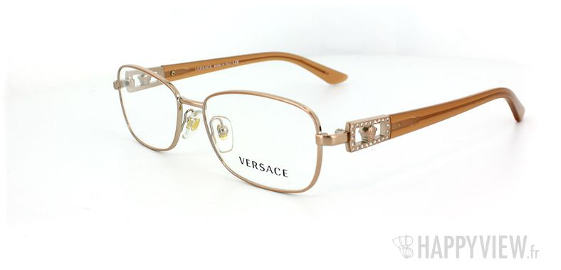 Lunettes de vue Versace Versace 1216B doré - vue de 3/4