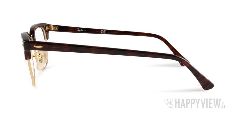 Lunettes de vue Ray-Ban RX 5154 Clubmaster écaille/doré - vue de côté