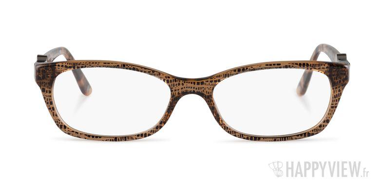 Lunettes de vue Versace VE 3164 marron - vue de face