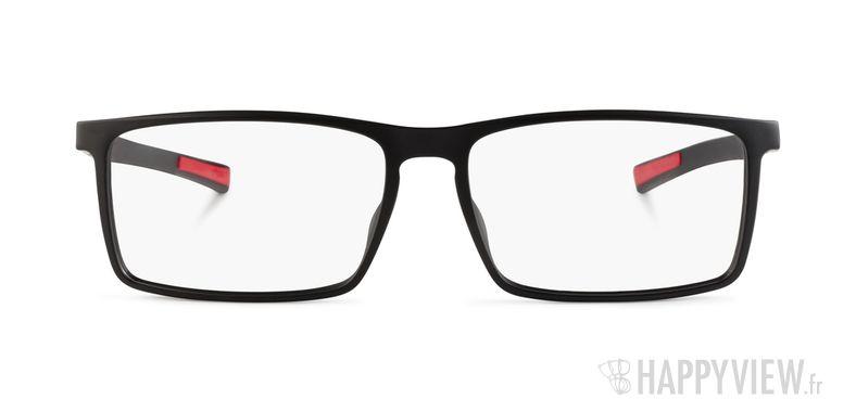 Lunettes de vue Tag Heuer TH 0516 noir/rouge - vue de face
